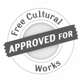 Digital badge that said it is approved for free cultural works