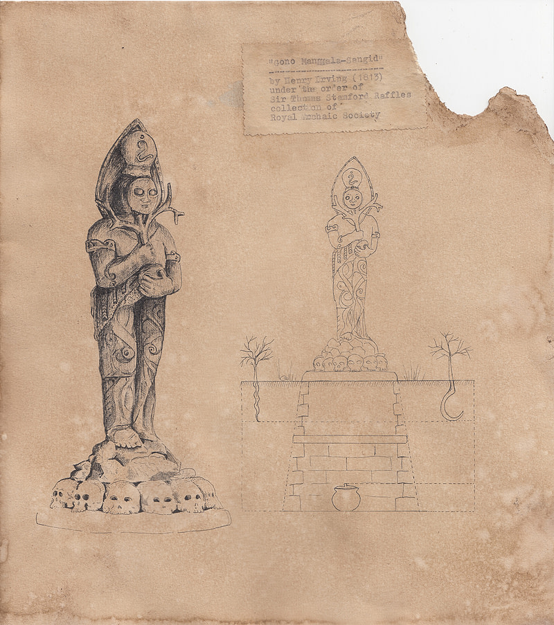 Early Representational Drawing on Tugu Gono Manggala-Sangid